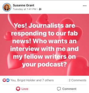 Susanne Grant Facebook Post for AMA Publishing