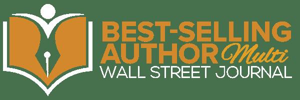 Wall Street Journal Best-Selling Author Logo - MULTI WHITE WEB