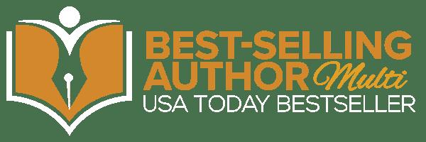 USA Today Best-Selling Author Logo - MULTI WHITE WEB