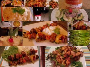 Kebabs Feast with pork, chicken and beef