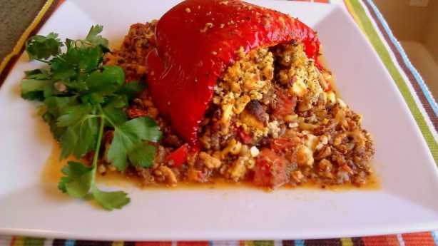 Stuffed Peppers with quinoa and lean turkey