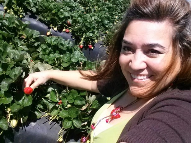 Adriana Martin Picking Fresh Strawberries at Wish Farms, Duette, FL