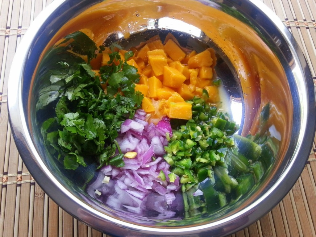 How to prepare the Mango and Serrano Chile Salsa #ABRecipes