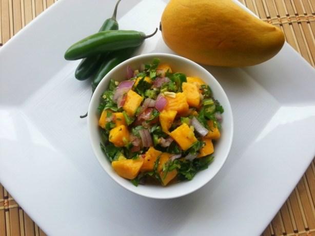 Mango and Serrano Chile Salsa #ABRecipes