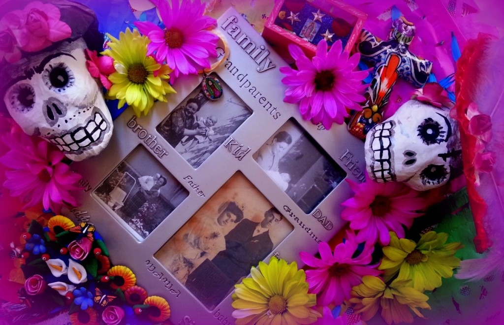 "This is my ofrenda for ""Día de Muertos"" celebrating my family"
