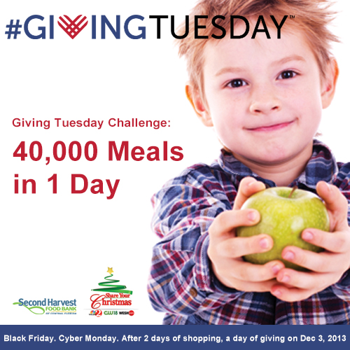 Fight Hunger. Feed Hope. #GivingTuesday 40K meals in 1 day!