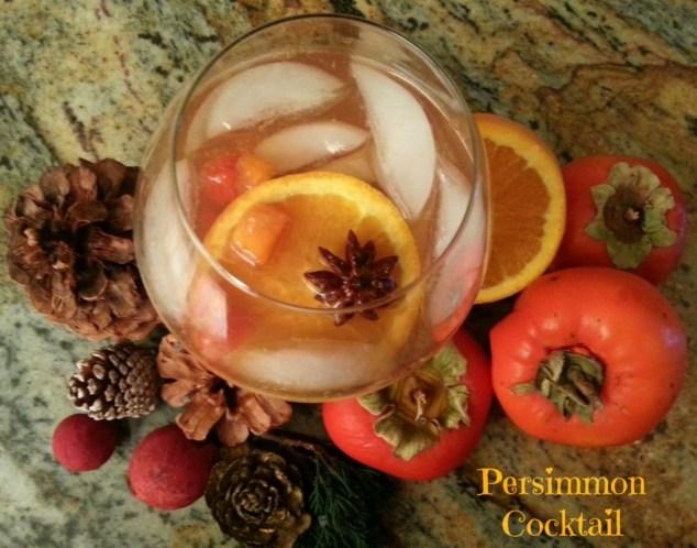 Persimmon Cocktail  #ABRecipes