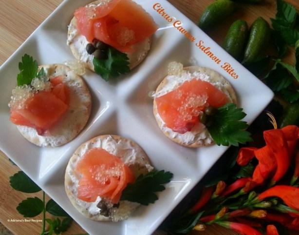 Citrus Caviar Salmon Bites #ABRecipes