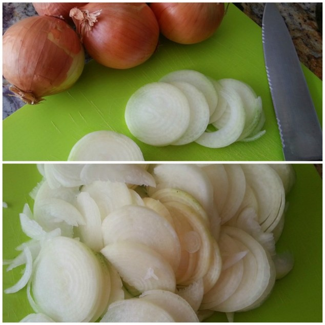 Cutting the Onions for the French Onion Soup #ABRecipes