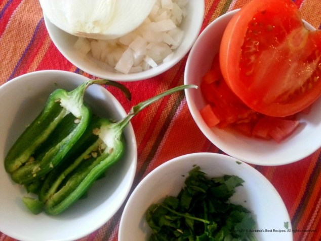 Chopped ingredients for preparing fresh guacamole #ABRecipes