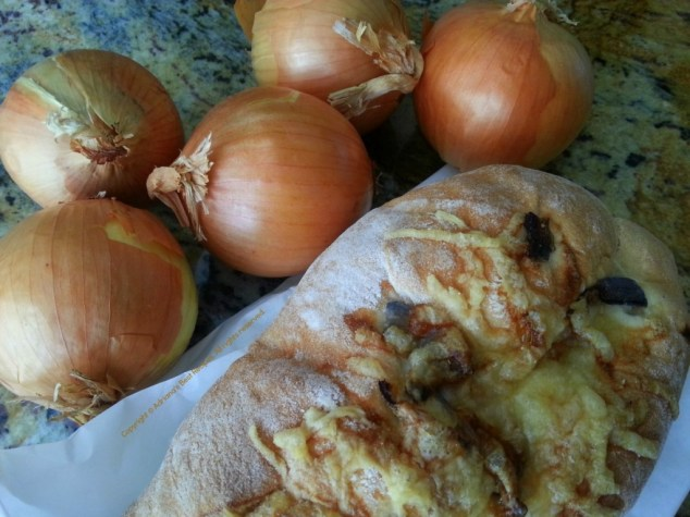 Ingredients for making French Onion Soup #ABRecipes
