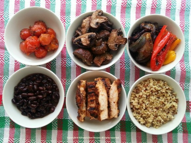 Ingredients for the Mexican Bowl #MushroomMakeover #Ad