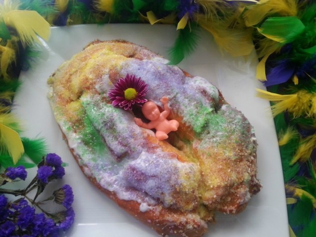 King Cake. Photo credit: Adriana Martin for Adriana's Best Recipes, all rights reserved