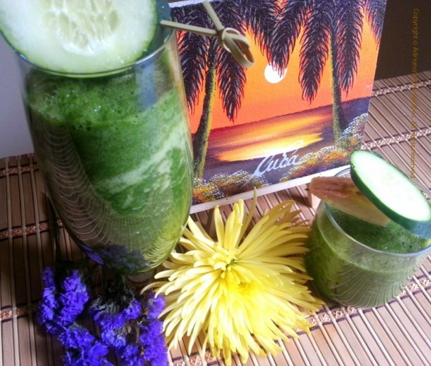 My Favorite Green Juice healthy snack #ABRecipes