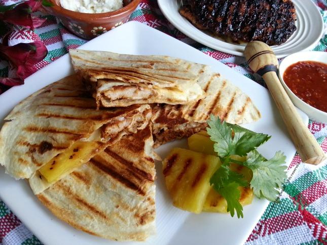 Quesadilla La Gringa with Pastor Pork #GoAutentico #QuesadillaCookOff #ad