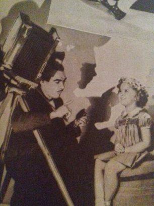 Shirley Temple pe platourile de filmare