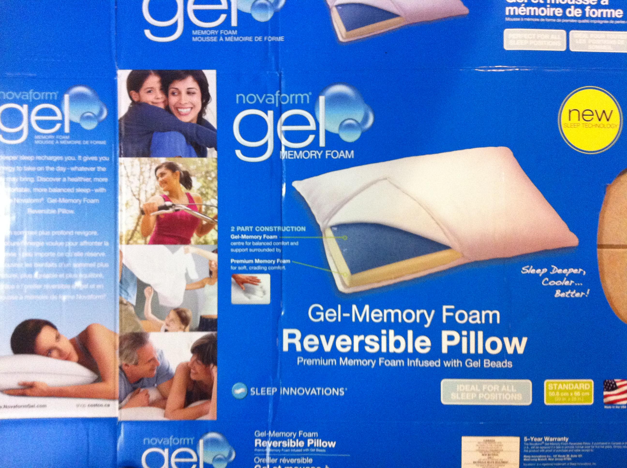 novaform gel memory foam pillow review