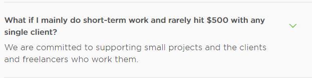 Upwork short business terms