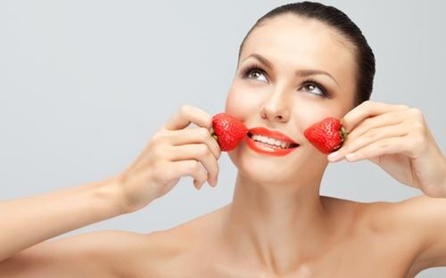 Máscaras antioxidante de morango