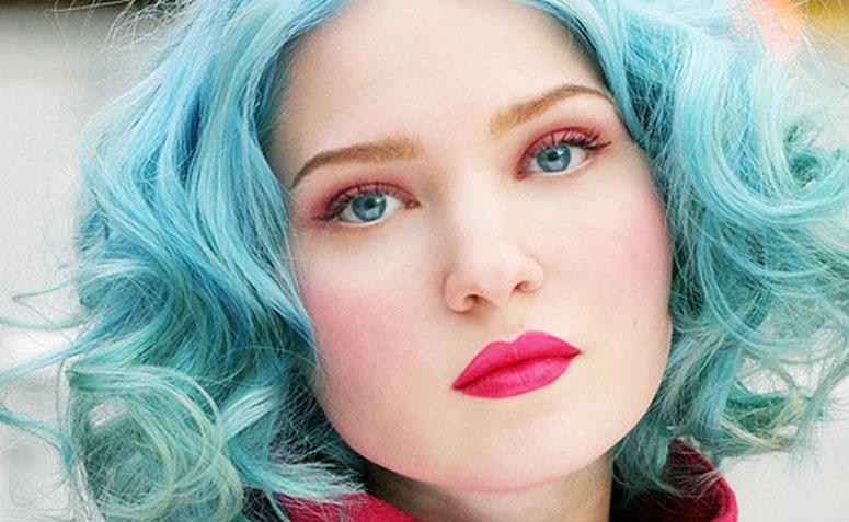 como pintar o cabelo de azul turquesa