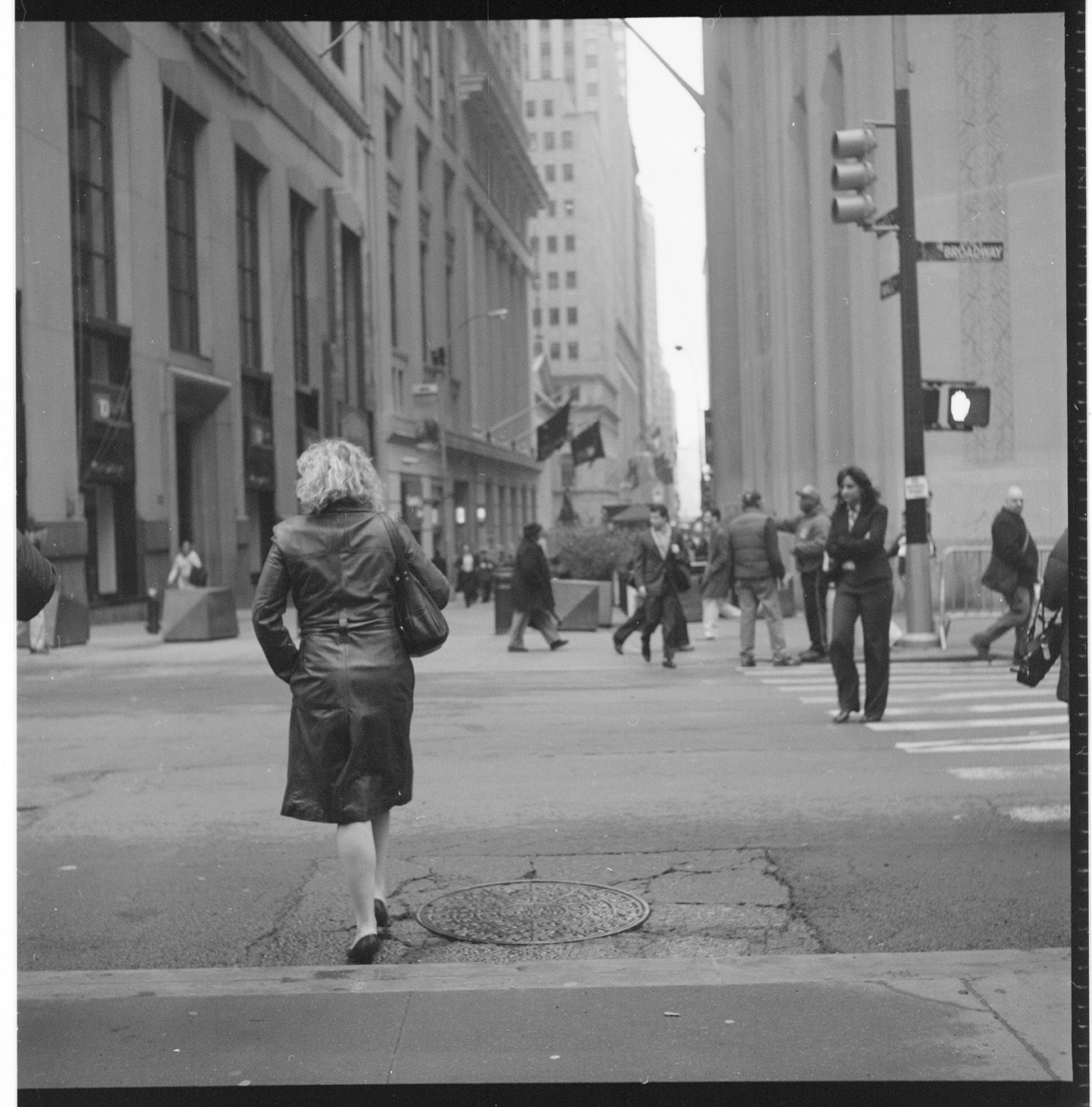 Crossing at Broadway and Wall St.