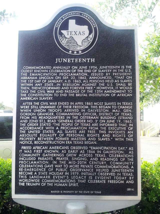 Juneteenth Plaque