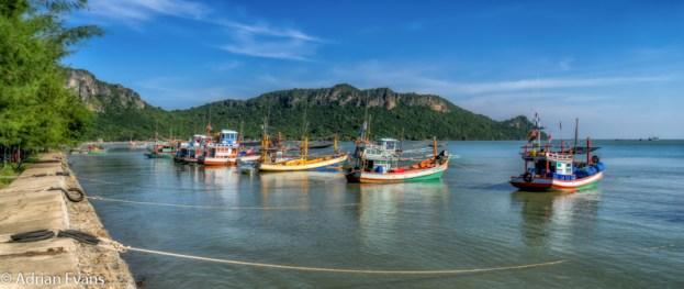 Fishing harbour Ao Noi Prachuap Khiri Khan Thailand