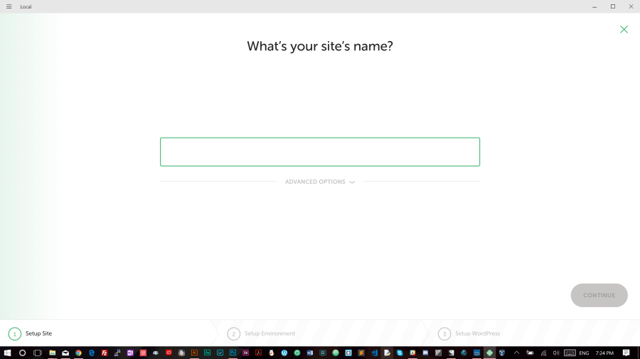 Name your site project