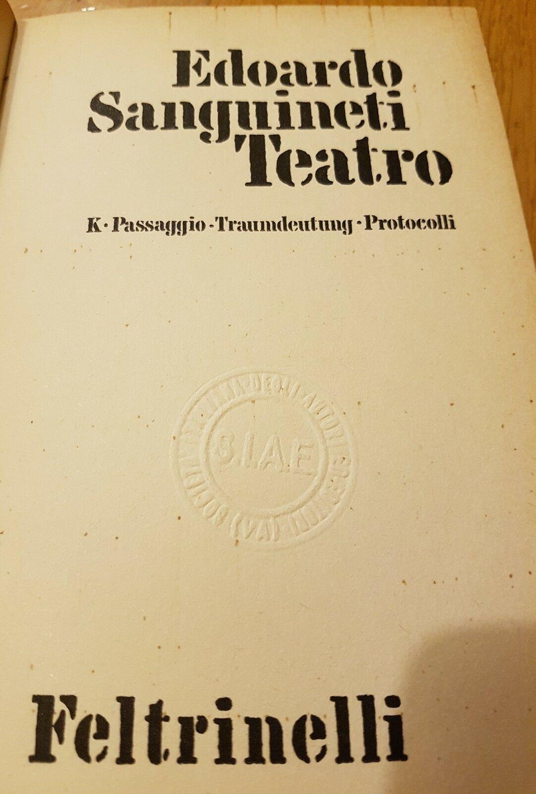Sul teatro di Edoardo Sanguineti