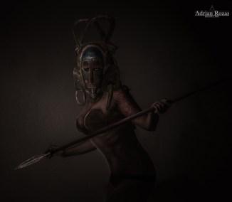 Fotografía Guerrera Africana