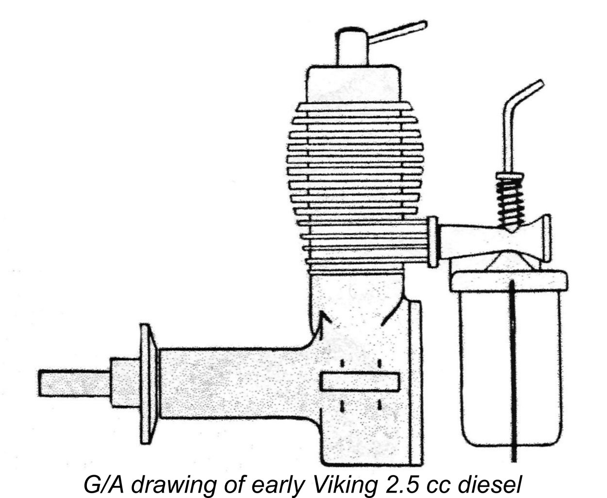 All versions of the engine used an externally threaded steel needle prior to the summer of 1953 the engines featured a neat but fragile screw in cast