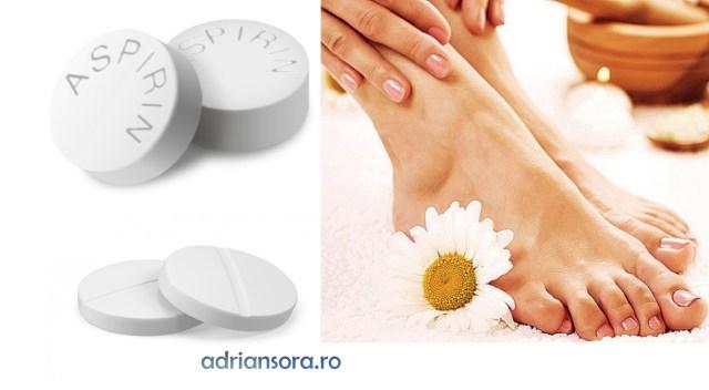 Aspirina remediu extern pentru picioare