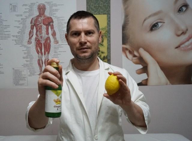 Limonadă cu suc de ghimbir