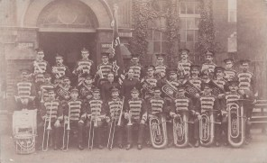 Postcard of a Salvation Army Band at Tunbridge Wells, circa 1914.