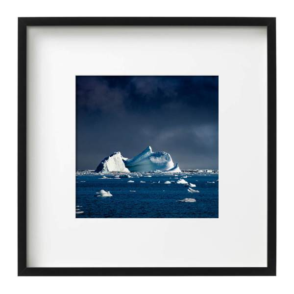 Iceberg East Greenland Black Square Frame