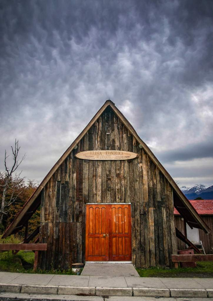 Triangular Wooden Church Puerto Williams Chile