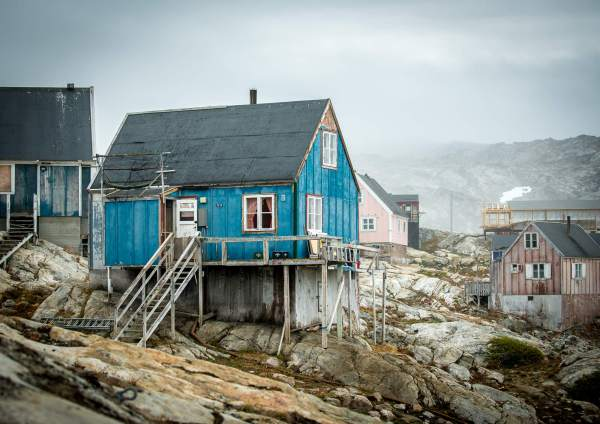 East Greenland Tiniteqilaaq Blue House