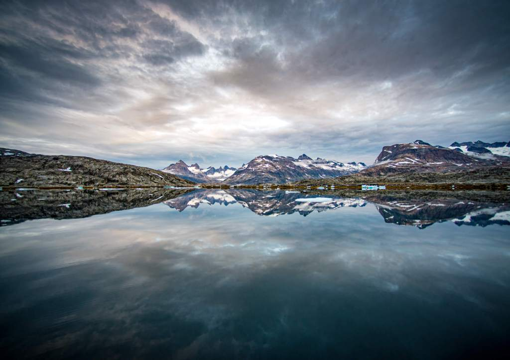 Tiniteqilaaq Mountains Reflection