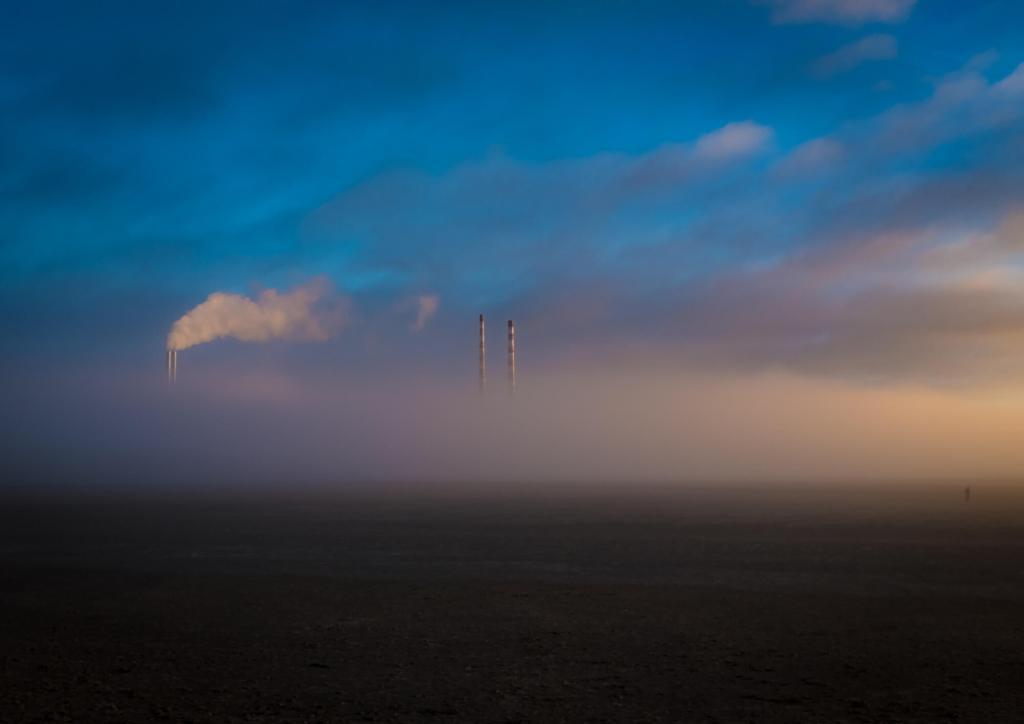 Low Winter Sunshine Fog Dublin Bay