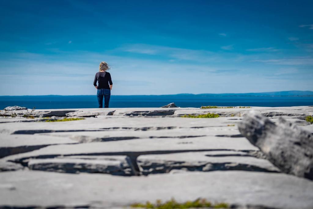 Blue Sky Calm Day Burren Clare