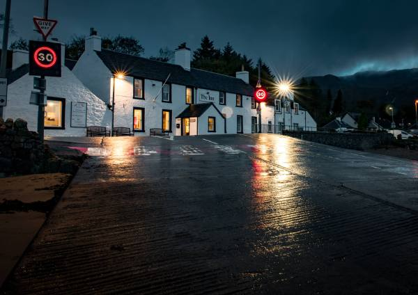 The Inn at Ardgour, Fort William in the Scottish Highlands, close to Glencoe with breathtaking views of Loch Linnhe, Scotland.