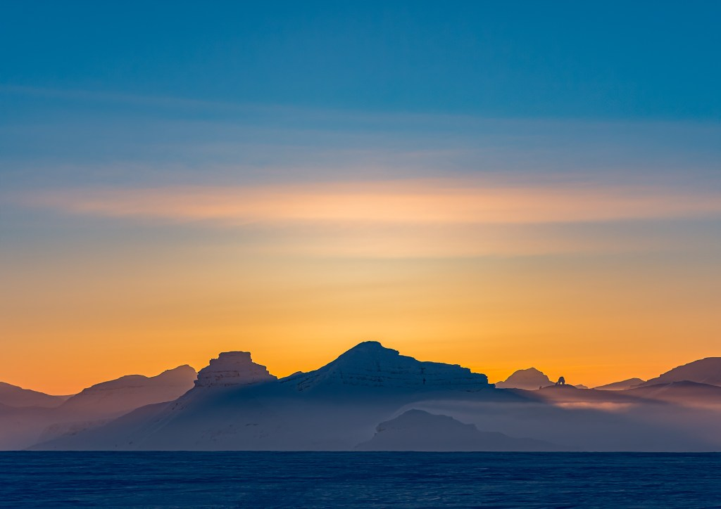 Spitsbergen Sunset Near Pyramiden