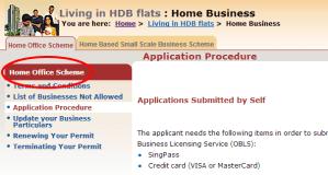 Applying for HDB Home Office Scheme License