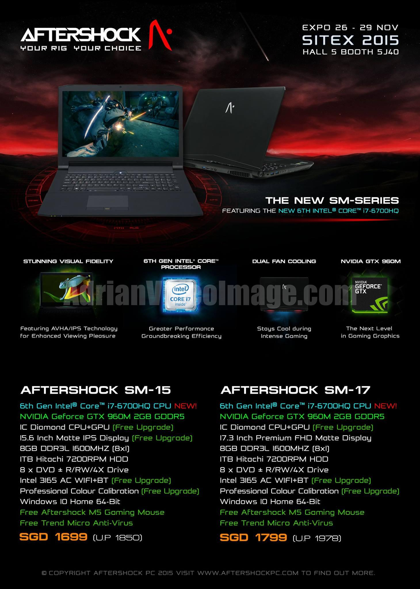 AfterShock PC Promotion 2015 - pg1 - New SM-Series