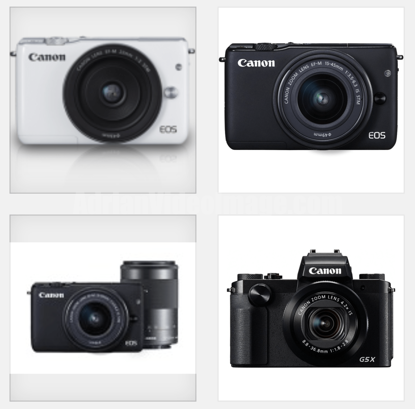New Canon Digital Camera Models 2015 Price – G9X, G5X, EOS M10