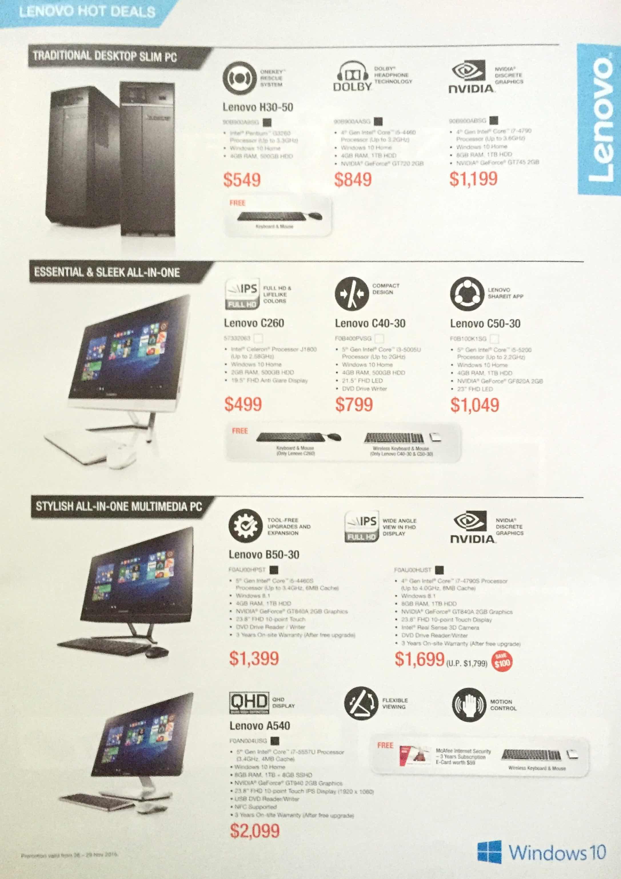 Lenovo SG - pg4 - Hot Deals
