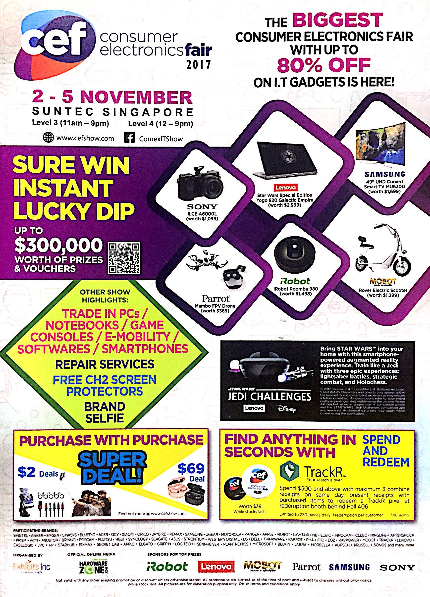 CEF Consumer Electronics Fair 2017 | 2 - 5 November | Suntec Singapore | pg1
