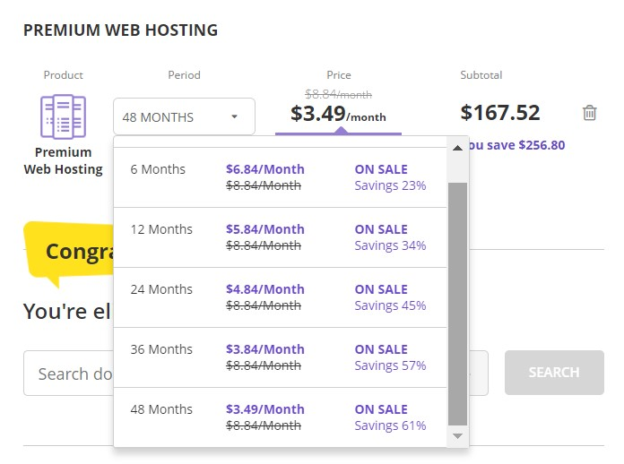 Hostinger Premium Web Hosting Plan