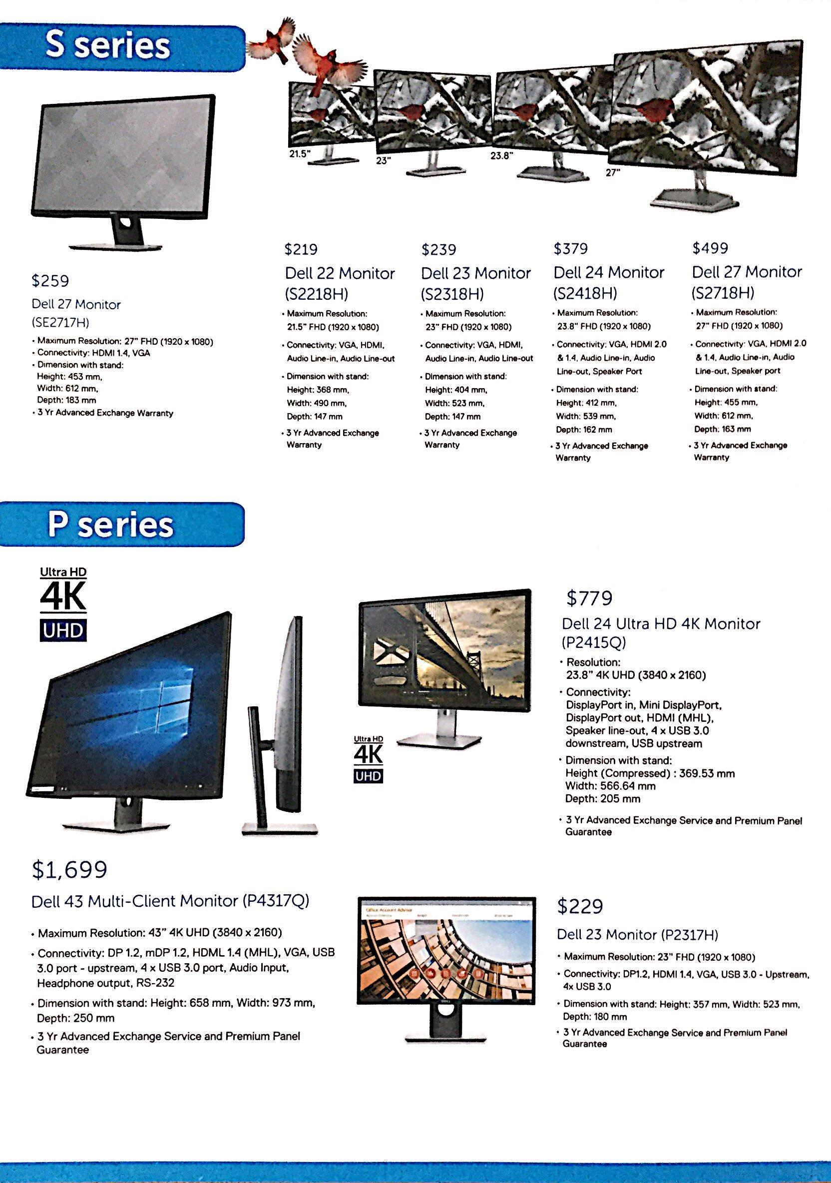 Dell Monitor Deals @ CEF Show 2017 | Brochure pg2