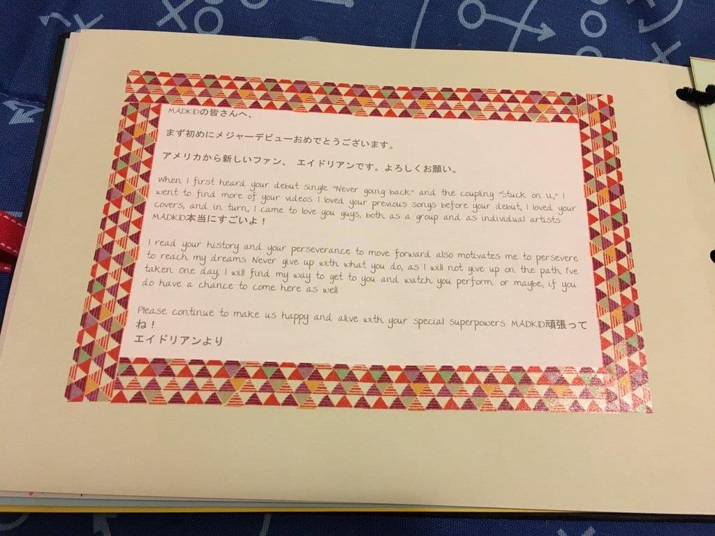 MADKID Fan Book Message - Original Message